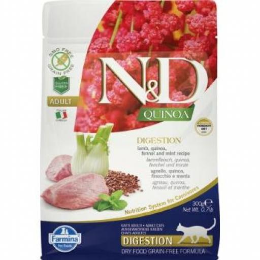 Farmina N&D Grain Free QUINOA CAT DIGESTION CORDERO
