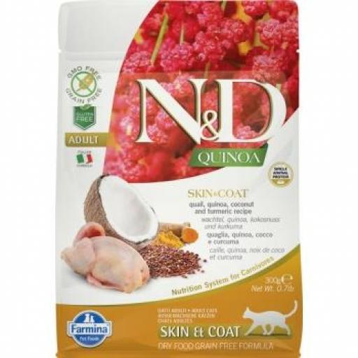Farmina N&D Grain Free QUINOA CAT SKIN & COAT CODORNIZ
