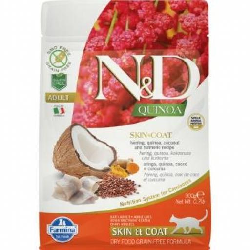 Farmina N&D Grain Free QUINOA CAT SKIN & COAT PESCADO  [0]