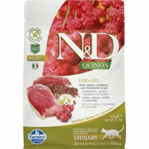 Farmina N&D Grain Free QUINOA CAT URINARY PATO