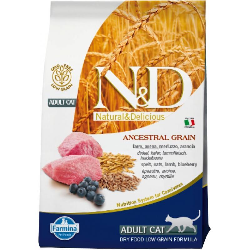 Farmina N&D Low Grain Adult CAT Cordero & Arandano