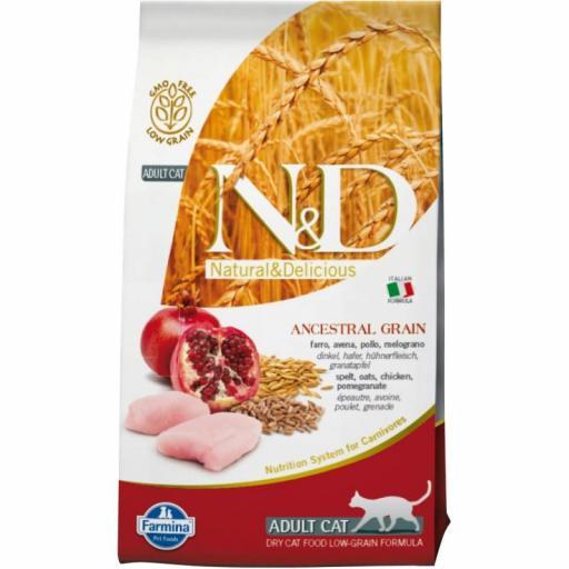 Farmina N&D Low Grain ADULT CAT Pollo & Granada