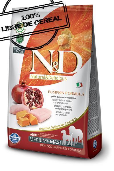 Farmina N&D Low Grain Pollo & Granada ADULT MINI 2.5 KGS.