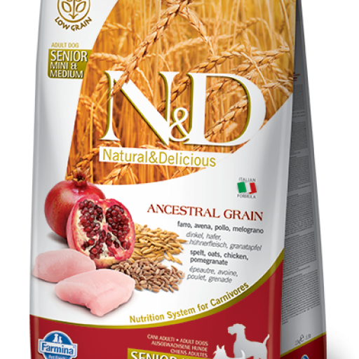 Farmina N&D Low Grain Pollo & Granada SENIOR  MEDIUM & MAXI