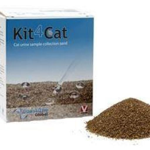 Arena Gato Kit4Cat NATURAL 3x300 gr (especial toma muestras)