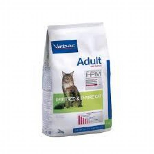 VIRBAC HPM Adult Cat Neutered & Entire Salmón