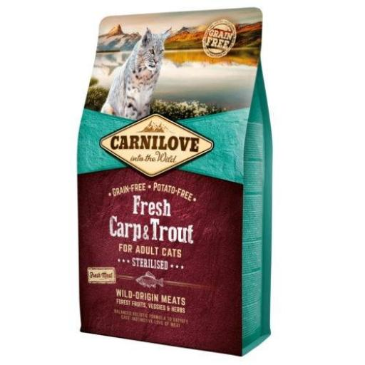 CARNILOVE Feline Sterilised Carpa & Trucha Grain Free