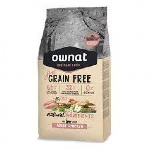 Ownat Just Grain Free Adulto Pollo Gato