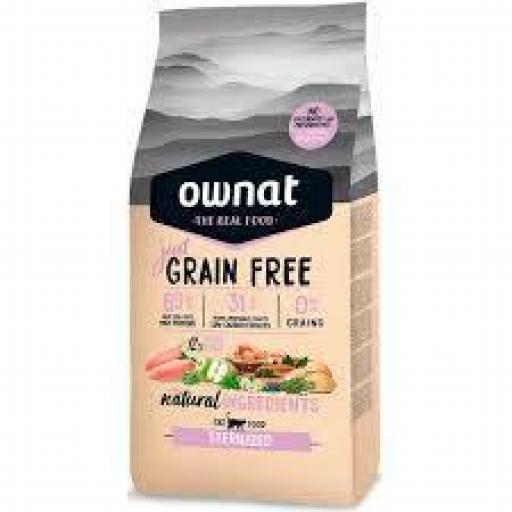 Ownat Just Grain Free Gato Esterilizados Pollo