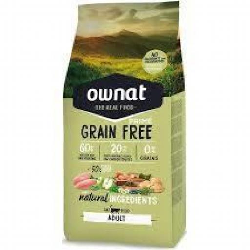 Ownat Grain Free Prime Gato Adulto