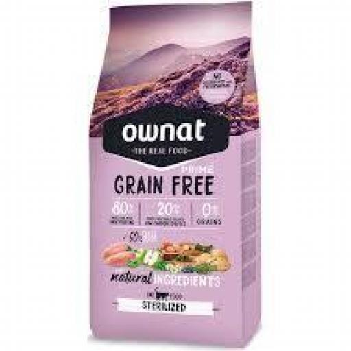 Ownat Prime Grain Free Sterilized Gato