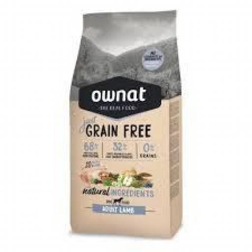 Ownat Just Grain Free Adulto Cordero