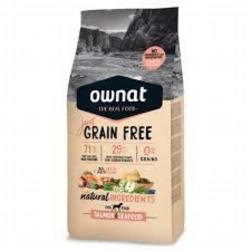 Ownat Just Grain Free Salmon Y Marisco