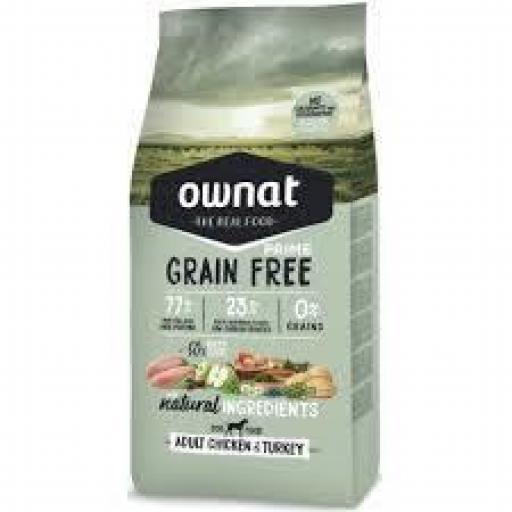 Ownat Grain Free Prime Adulto Pollo Y Pavo