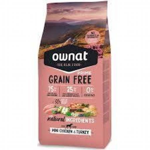 Ownat Grain Free Prime Mini Pollo Y Pavo