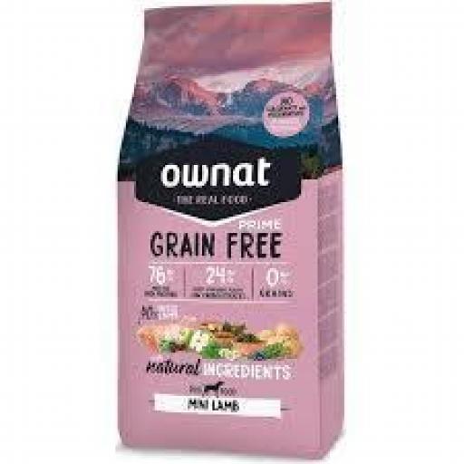 Ownat Grain Free Prime Mini Cordero