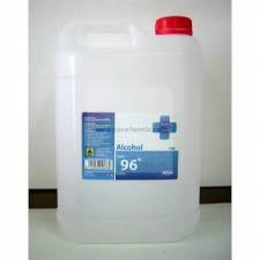 Alcohol Sanitario 96º Garrafa 5 Litros