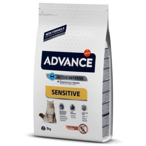 Advance Sensitive Gatos Adultos Salmón y Arroz