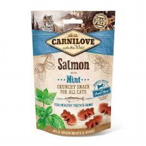 Carnilove Snacks Crunchy Salmon Y Menta Gato