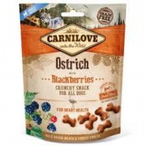 Carnilove Snacks Perro Crunchy Avestruz & Moras