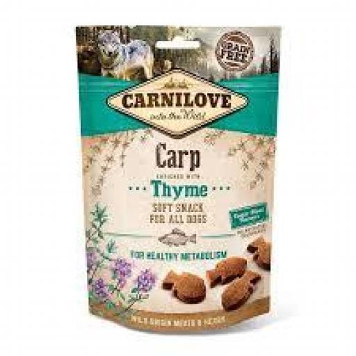Carnilove Snacks Perro Semi-Húmedo Carpa & Tomillo (10 x 100 grms)