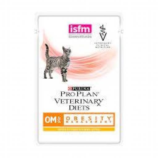 ProPlan Veterinary Diet Feline OM (Obesidad) Sobre 10 x 85 grms.
