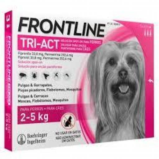 Frontline Tri-Act PipetasPerros Protección Total De 2-5 Kgs.
