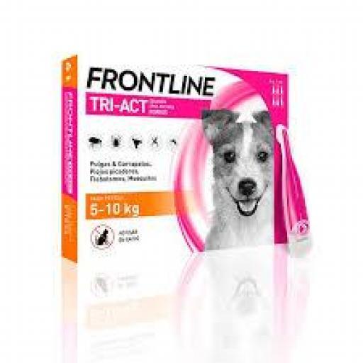 Frontline Tri-Act Pipetas Perros Protección Total De 5-10 Kgs