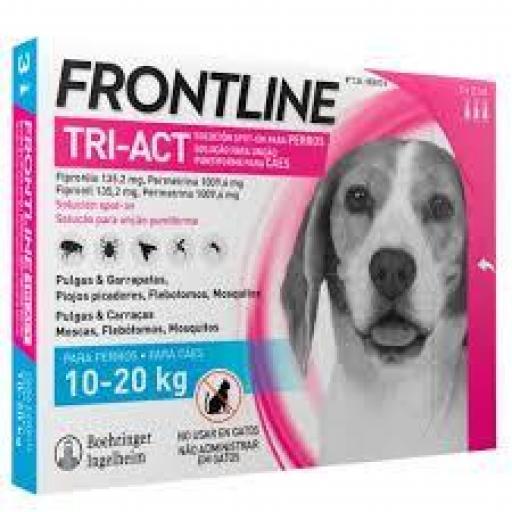 Frontline Tri-Act Pipetas Perros Protección Total De 10-20 Kgs.