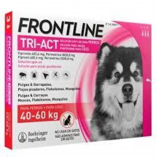 Frontline Tri-Act Pipetas Perros Protección Total De 40-60 Kgs