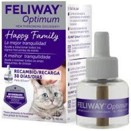Feliway Optimum Antiestrés para Gatos Recambio 48 ml