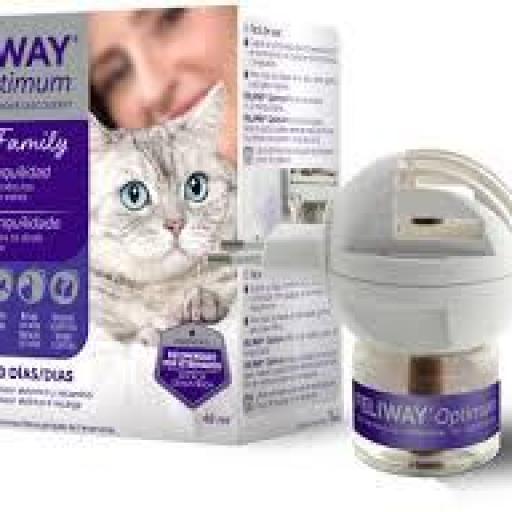 Feliway Optimum Antiestrés para Gatos Difusor + Recambio 48 ml