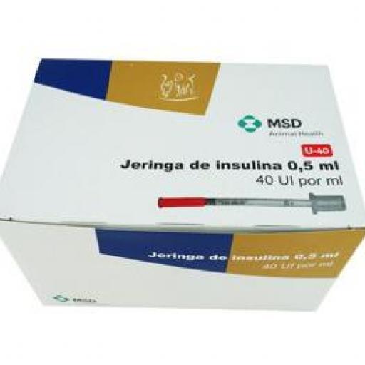 "Jeringa Insulina 40 ui 0.5 ml 29 G x 1/2"" (30 unidades) 1ª Calidad"