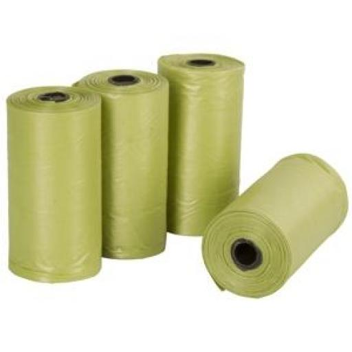 Bolsas Recoge Excremento Bio-degradable (4 rollos x 20 bolsas)