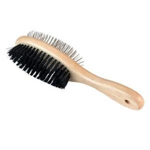 Cepillo Doble Ovalado con Puas y Tapa Protectora