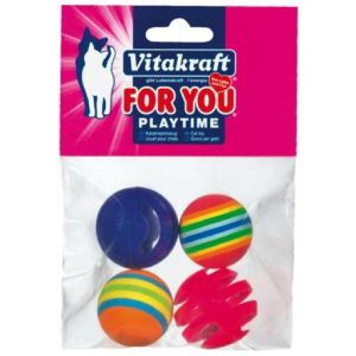 Vitakraft Bolas Plastico y bolas Goma para Gatos