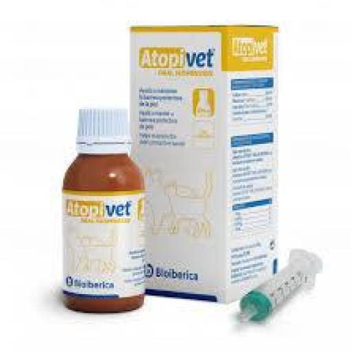 ATOPIVET Suspensión Oral 120 ml para Perros y Gatos con Dermatitis