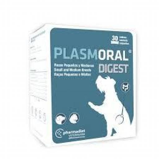PLASMORAL DIGEST 30 Sobres Regulador Intestinal Perros y Gatos