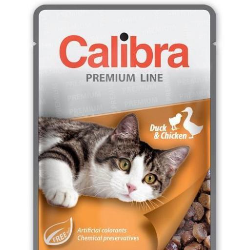 Calibra Sobre Gato Adulto Pato Y Pollo Multipack En Salsa