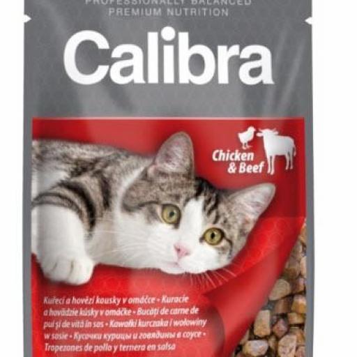 Calibra Sobre Gato Adulto Pollo Y Ternera En Salsa