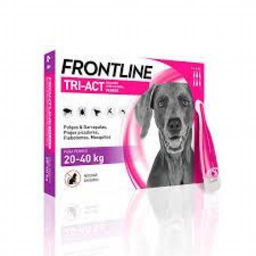 Frontline Tri-Act Pipetas Para Perros Protección Total De 20-40Kg