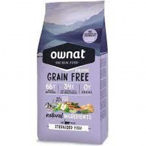 Ownat Grain Free Prime Gato Esterilizados Pescado