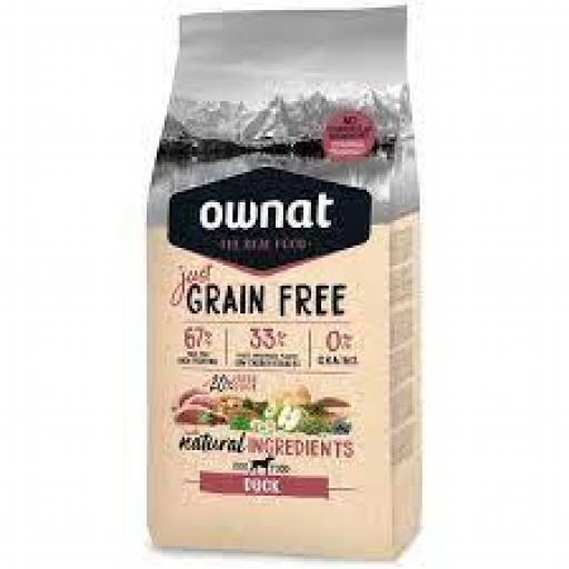 Ownat Just Grain Free Adulto Pato