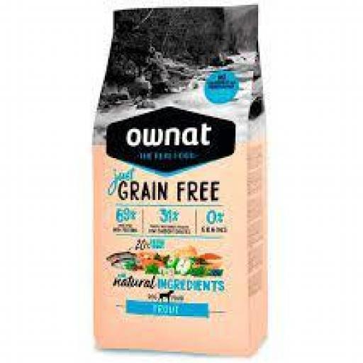 Ownat Just Grain Free Adulto Trucha