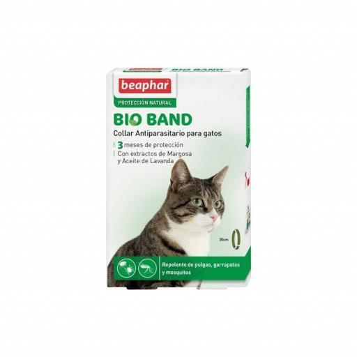 Beaphar Collar Repulsivo Bio Band Con Extracto De Margosa Gato