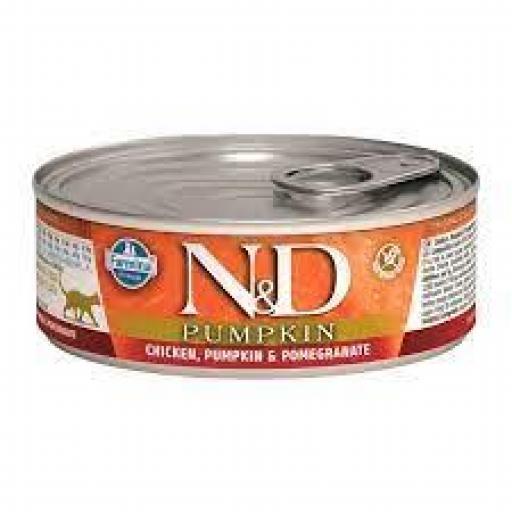 Farmina N&D Grain Free Pumpkin Feline Pollo Lata