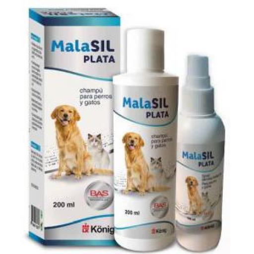 Malasil Plata Ag+ Champú Para Perros Y Gatos