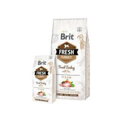 Brit Fresh Perro Adulto Fit & Slim Pavo Y Guisante