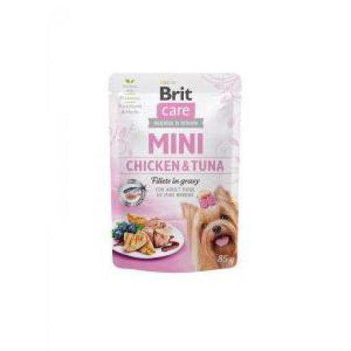 Brit Care Mini Dog Filetes De Pollo Y Atún Sobre (24 x 85 grms.)