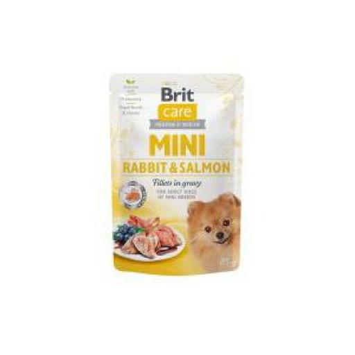 Brit Care Mini Dog Filetes De Conejo Y Salmón (24 x 85 grms.)